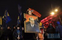 Nationalist ideologist commemorated with torch procession in Kyiv