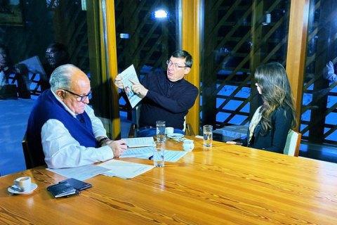 Giuliani interviews Lutsenko for documentary