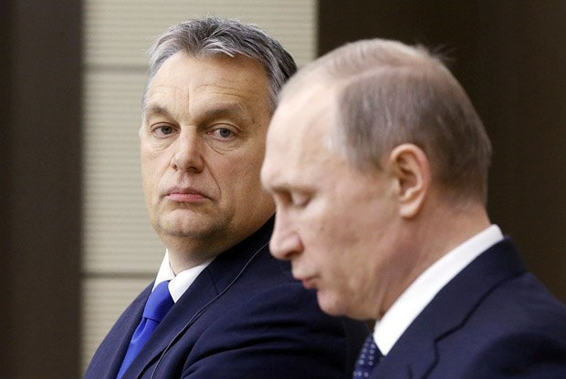 Viktor Orban during a meeting with Vladimir Putin in Moscow, 17 February 2016