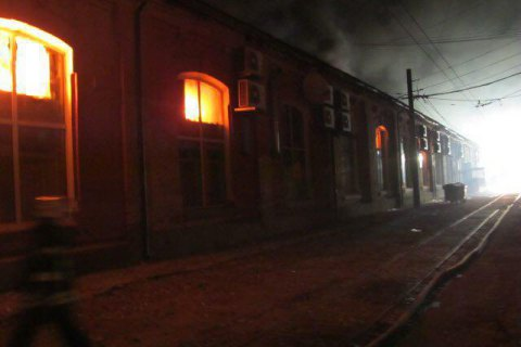 Eight die in Odesa hotel fire