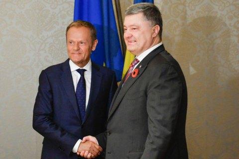 Poroshenko, Tusk schedule EU-Ukraine summit for summer