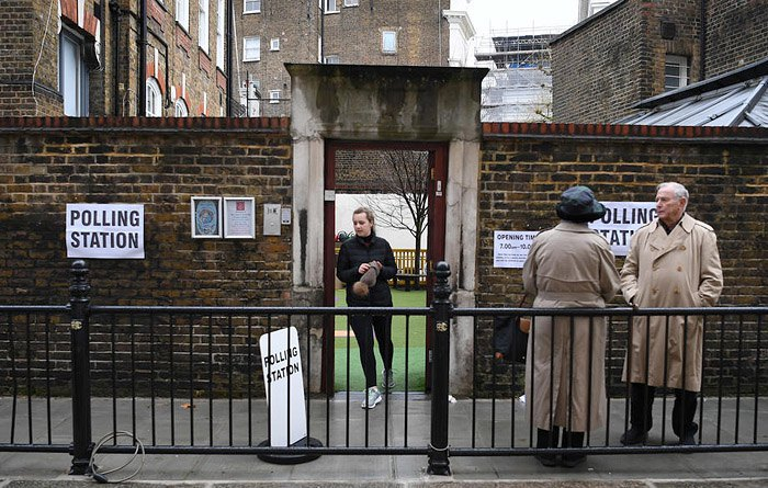 A polling station in London, 12 December 2019