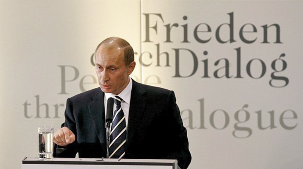 Vladimir Putin's speech in Munich in 2007