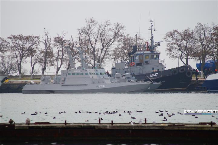 Ukrainian tugboat Yani Kapu A947 towed to Kerch