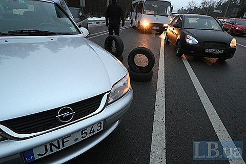 Owners of cars with foreign registration rally in Kyiv