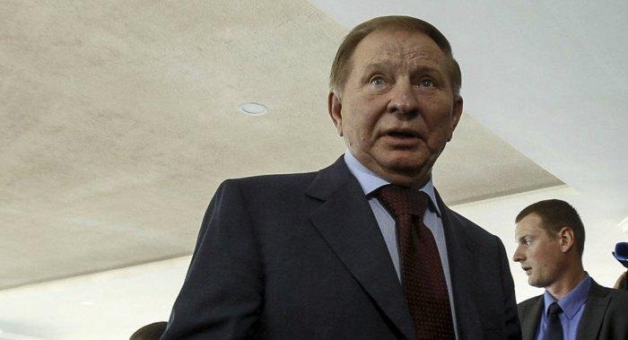 Leonid Kuchma after the Minsk talks on Donbas, 5 June 2019
