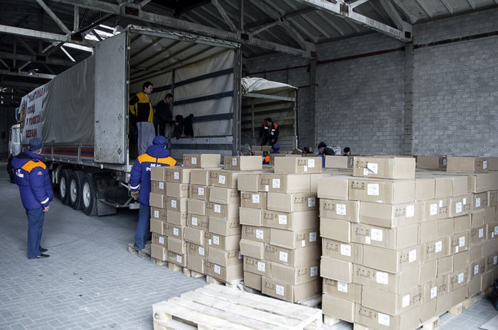 Russian humanitarian cargo, Donetsk, 19 March 2015