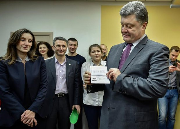 Poroshenko is being issued his biometric passport. 12 January 2015