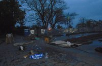 Protest camp attacked in Odesa