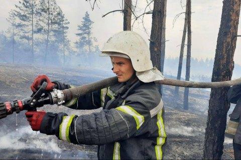 Wildfires still burning in seven spots of Luhansk Region