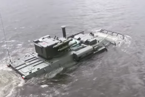 Ukrainian APC Bucephalus tested on water