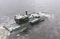 Ukrainian APC Bucephalus tested on water