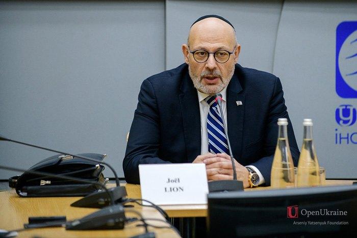 Israel's ambassador to Ukraine Joel Lion