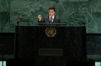 """Zelenskyy to UNGA: """"My task is to end war in Donbas but not at the cost of freedom"""""""