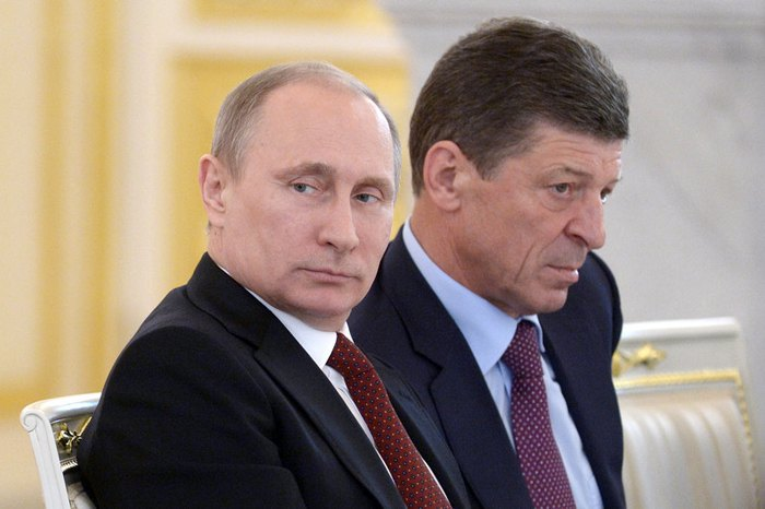 Vladimir Putin and Dmitry Kozak