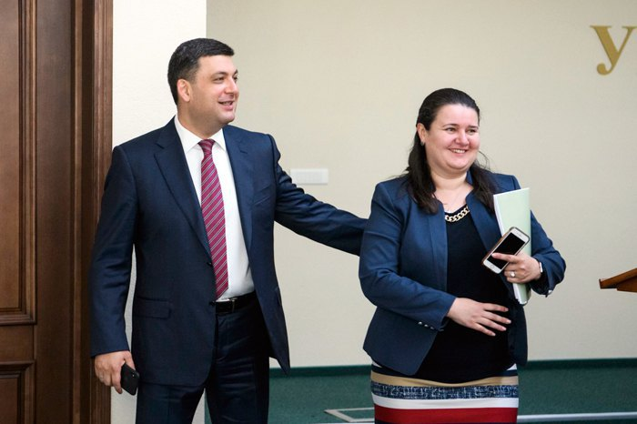 Volodymyr Groysman and Oksana Markarova