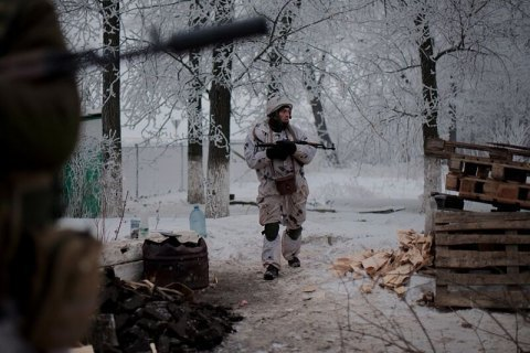 One serviceman killed, four injured in Donbas
