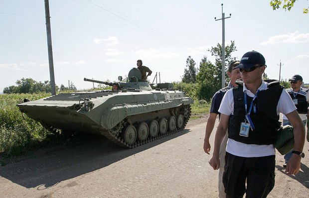 OSCE observers in Donbas