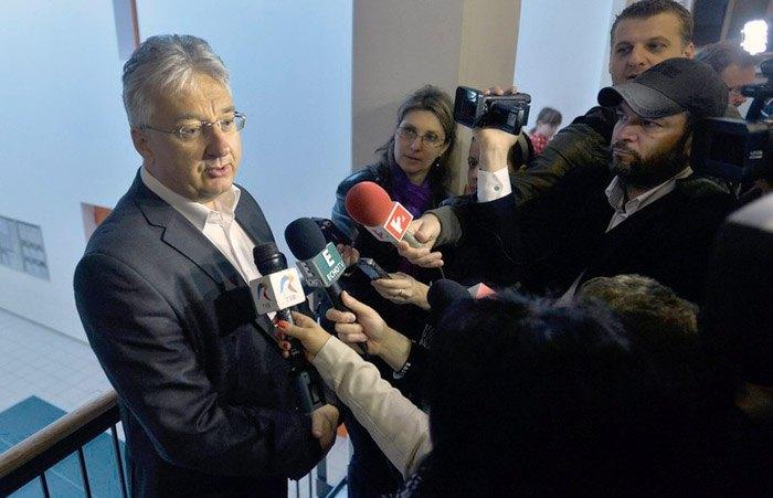 Hungarian Deputy Prime Minister Zsolt Semjén (left)