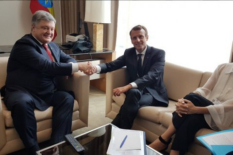 "Poroshenko, Macron discussed further ""Normandy format"" efforts"
