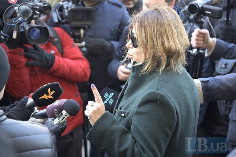 Activists picket TV channel over interview of former Yanukovych official