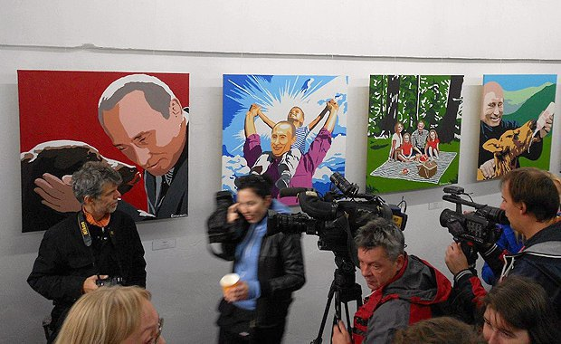 "Exhibition on Putin's 60th anniversary ""President. A kind-hearted man"" 2012"