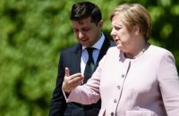 Zelenskyy discusses Normandy Four meeting with Merkel