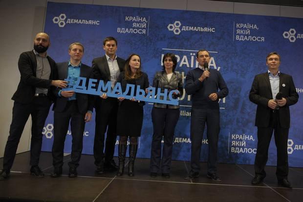 Left to right: Romanyukov, Andriychenko, Cherkasenko, Mateychuk, Ptashnyk, Hatsko, Olenchenko