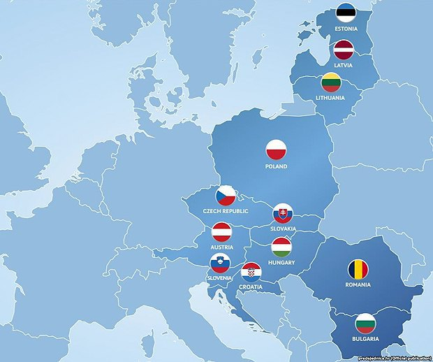 Countries party to the Three Seas Initiative