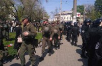 Police prevent scuffles at Odesa's Kulykove Field