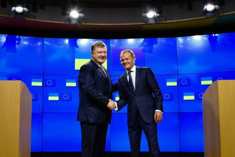Poroshenko, Tusk discuss EU-Ukraine agenda