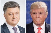 Ukrainian president raises Crimea issue with Trump