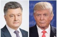 Ukrainian president raises Crimea issue with Trump