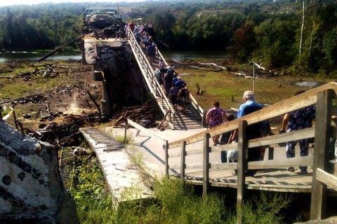 Separatists disrupt bridge repairs in Stanytsya Luhanska