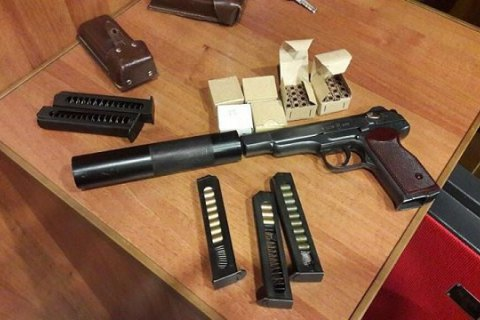 SBU confiscates pistol with silencer from Communist leader