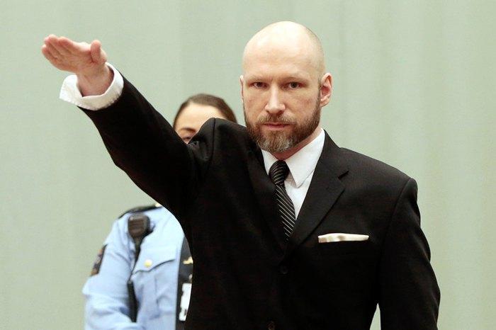 Anders Breivik at the hearing of his appeal
