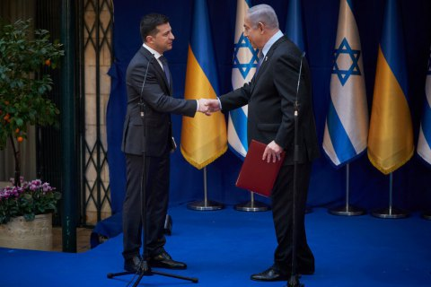 Ukraine president reminds Israeli PM about trade deal ratification