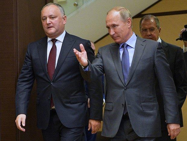 Vladimir Putin and Igor Dodon meet in Sochi, 10 October 2017