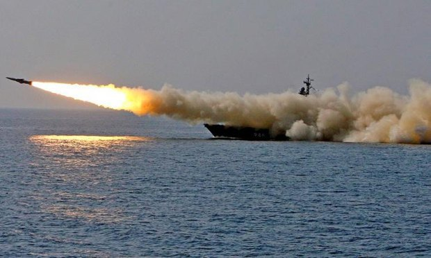 Launch of Russian cruise missiles