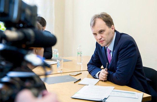 Moldova's breakaway Dniester region president Yevgeniy Shevchuk
