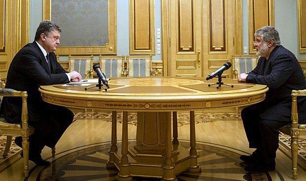 Petro Poroshenko and Ihor Kolomoyskyy