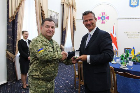 Ukraine's defence minister meets with UK counterpart