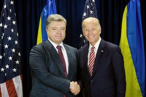 Biden to Poroshenko: EU sanctions against Russia at risk