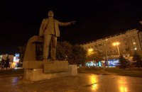 Monument to famine mastermind toppled in Dnipropetrovsk