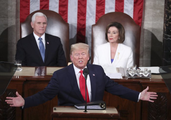 President Donald Trump addresses the Congress