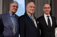 Lozhkin awards Sheptytsky Medal to World Jewish Congress head