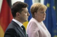 Zelenskyy, Merkel discuss Donbas over phone
