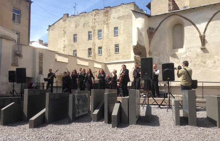 The concert-prayer dedicated to the 75th anniversary of the destruction of the Yaniv concentration camp at LvivKlezFest, June 2018