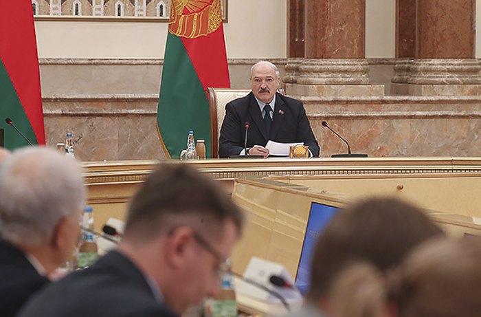 Belarusian President Alyaksandr Lukashenka at a news conference, 14 December 2018