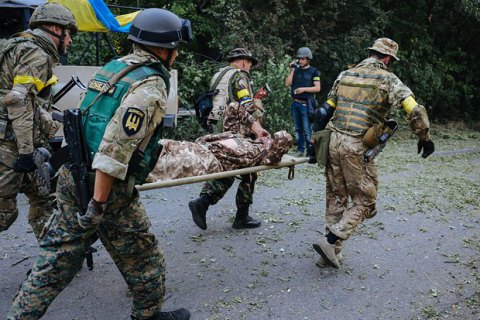 One Ukrainian serviceman killed, eight injured in east